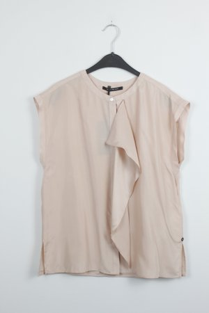 PENNYBLACK Bluse Seide Silk Gr. 38 nude Ärmellos Neu mit Etikett (18/9/621)