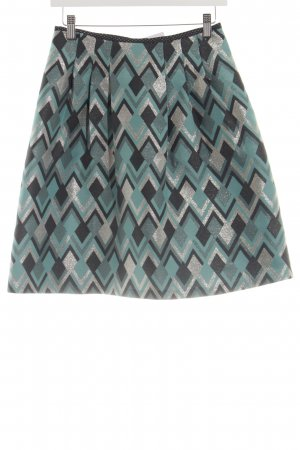 Pennyblack Flared Skirt turquoise allover print business style