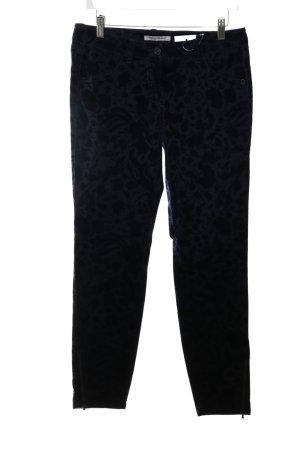Pennyblack Pantalon taille basse noir imprimé allover style simple