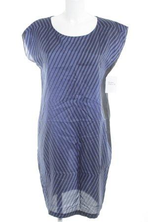 Pennyblack Kurzarmkleid stahlblau-schwarz Streifenmuster Casual-Look