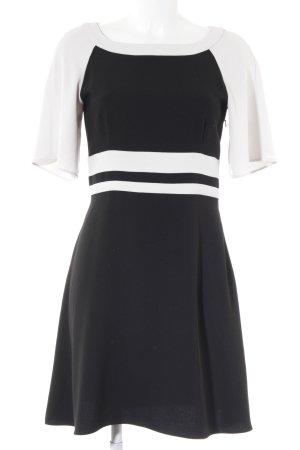 Pennyblack Kurzarmkleid weiß-schwarz Colourblocking Elegant
