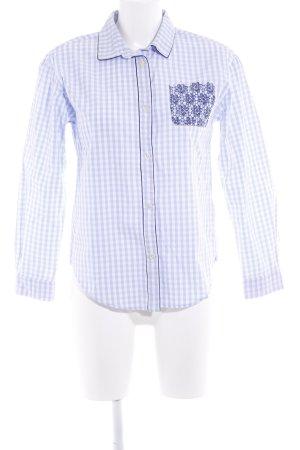 Pennyblack Langarmhemd himmelblau-dunkelblau Karomuster Casual-Look