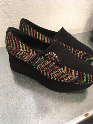Pensato Schuhe, Textil schwarz/bunt