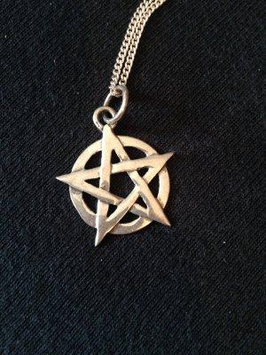 Pentagramm Anhänger 925er Silber ohne Kette Gothic WGT Wicca