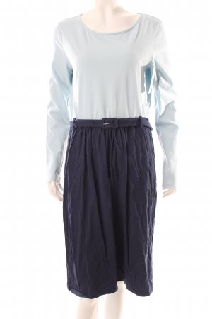 People tree Jerseykleid hellblau-dunkelblau Colourblocking Casual-Look