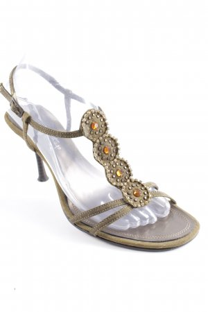 Pep Step High Heel Sandal green grey glittery