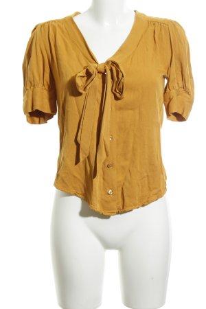 Pepaloves Hemd-Bluse blassgelb-hellorange schlichter Stil