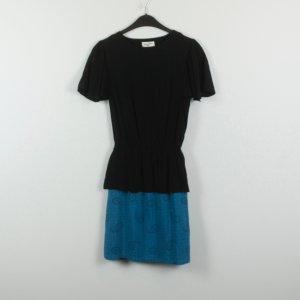 Pepaloves Abito nero-blu neon Viscosa