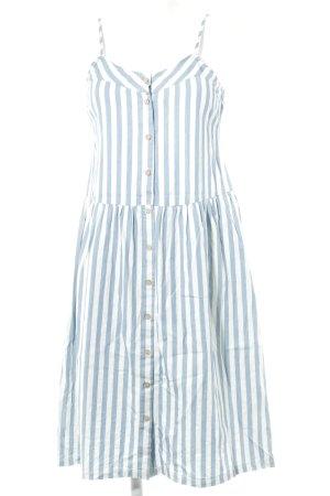 Pepaloves Trägerkleid wollweiß-himmelblau Streifenmuster Casual-Look