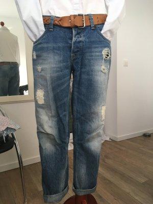 Pepe Jeans Jeans boyfriend blu acciaio-blu fiordaliso Cotone