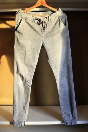 Pepe Jeans London Wortelbroek lichtgrijs Katoen