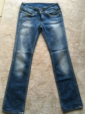 Pepe Straight Leg Jeans azure