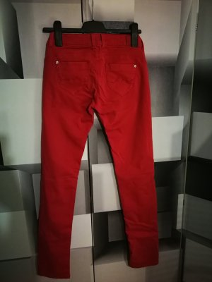 Pepe Jeans London Lage taille broek donkerrood