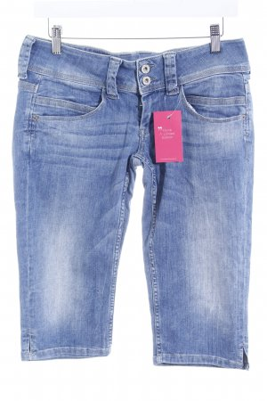 Pepe Jeans 3/4 Jeans blau Washed-Optik