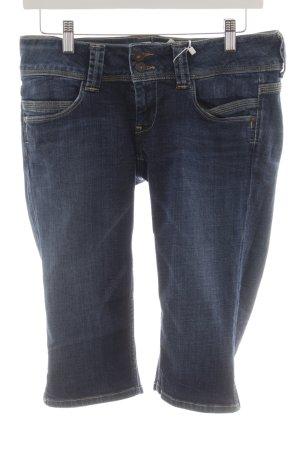 Pepe Jeans Jeans 3/4 bleu foncé style décontracté