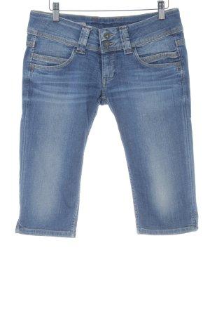 Pepe Jeans Jeans 3/4 bleu acier style décontracté