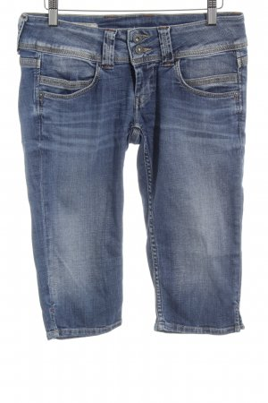 Pepe Jeans 3/4-jeans staalblauw-lichtgrijs casual uitstraling