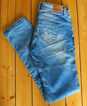 Pepe Jeans Low-Rise Trousers light blue cotton