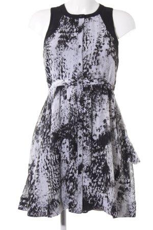 Pepe Jeans A-Linien Kleid schwarz-weiß abstraktes Muster Casual-Look
