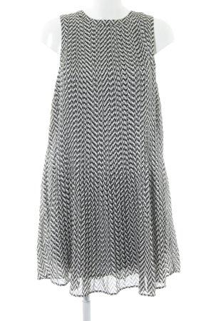 Pepe Jeans A-Linien Kleid schwarz-weiß Allover-Druck 60ies-Stil