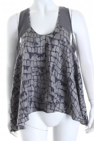 Pepe Jeans A-Linien Top abstrakter Druck Materialmix-Look