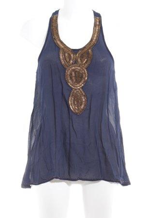 Pepe Jeans A-lijn top donkerblauw-goud elegant