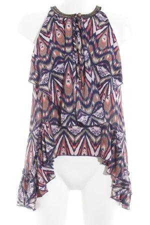 Pepe Jeans ärmellose Bluse abstraktes Muster Street-Fashion-Look