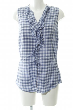 Pepe Jeans ärmellose Bluse Karomuster Country-Look