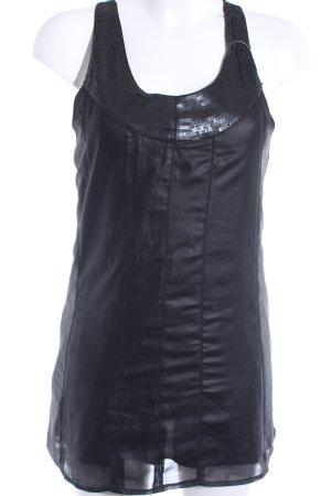 Pepe Jeans ärmellose Bluse schwarz Casual-Look