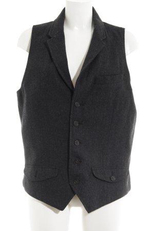 Pepe Jeans Herenvest taupe-zwart visgraatmotief simpele stijl