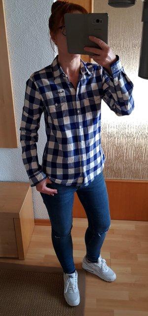 Pepe Jeans Ashford Hemd Bluse Karohemd Karobluse Blau-weiß S Neuwertig! NP 85€