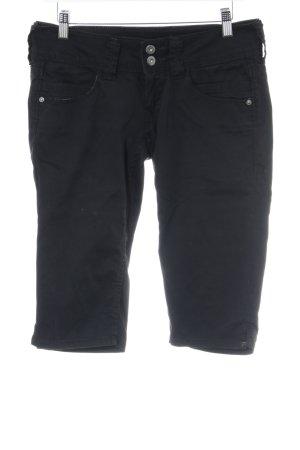 Pepe Jeans Bermuda schwarz Casual-Look
