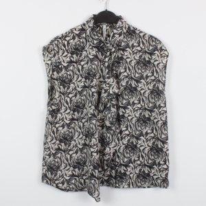 Pepe Jeans Bluse Gr. XS schwarz beige gemustert oversized (18/12/105)