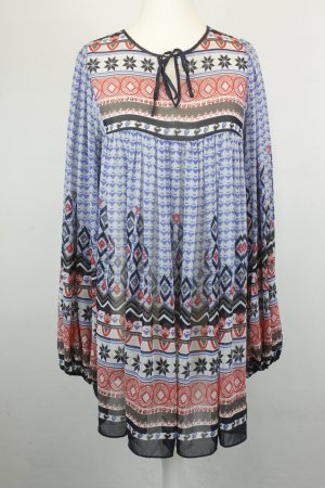 Pepe Jeans Bluse Long-Bluse Tunika Gr. S multicolor Hippie boho ethno oversized
