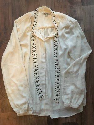 PEPE Jeans, Bluse mit Schal mit Nieten, Gr. XL, NEU und ungetragen