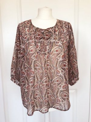 Pepe Jeans Bluse Tunika Shirt bunt Muster Boho Hippie Blogger Ethno bunt Muster S