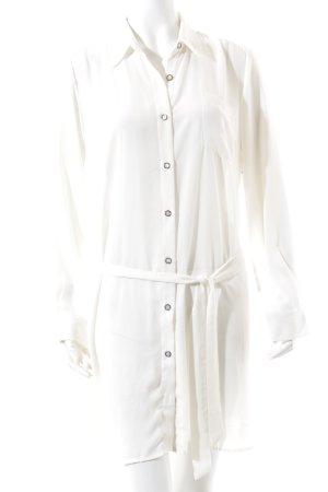 Pepe Jeans Blusenkleid wollweiß minimalistischer Stil
