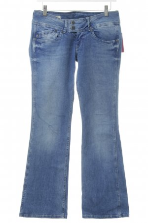 Pepe Jeans Boot Cut Jeans blau Street-Fashion-Look