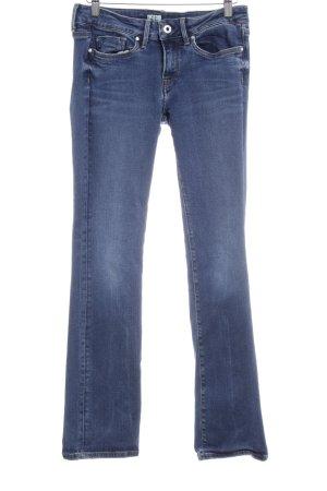 Pepe Jeans Boot Cut Jeans blau-weiß Casual-Look