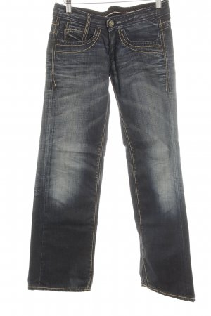 Pepe Jeans Boot Cut Jeans dunkelblau Destroy-Optik