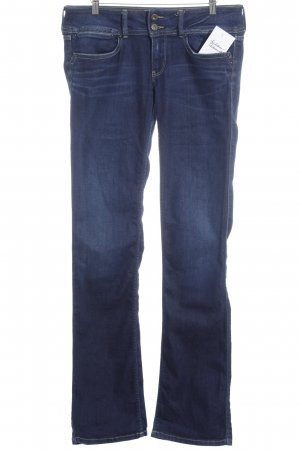 Pepe Jeans Boot Cut Jeans dunkelblau Washed-Optik