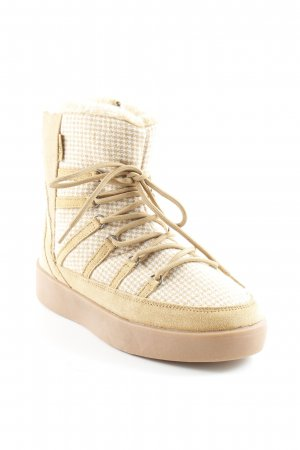 Pepe Jeans Booties creme-camel Hahnentrittmuster Casual-Look