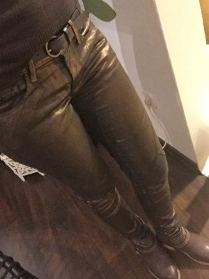 Pepe Jeans bronze braun kupfer Gr. S Hose Damen