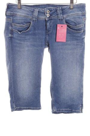 Pepe Jeans Capribroek staalblauw gewassen uitstraling