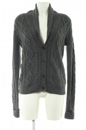 Pepe Jeans Cardigan hellgrau Zopfmuster Casual-Look