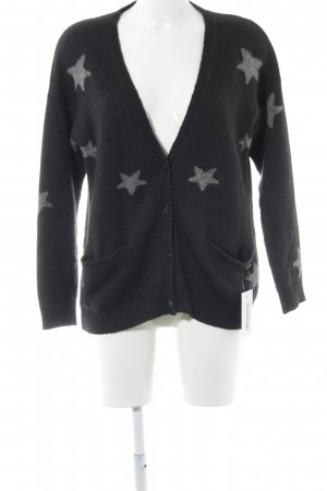 Pepe Jeans Cardigan anthrazit-hellgrau Sternenmuster Casual-Look