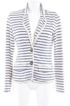 Pepe Jeans Cardigan creme-stahlblau Streifenmuster Casual-Look