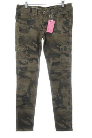 Pepe Jeans Cargobroek groen-grijs-donkergroen camouflageprint casual uitstraling