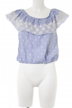 Pepe Jeans Carmen Blouse blue mixed pattern casual look
