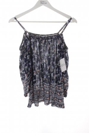 Pepe Jeans Carmen-Bluse florales Muster Romantik-Look